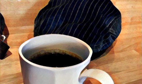 コーヒーとワークキャップ