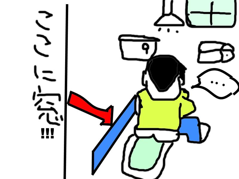 和式トイレにある窓