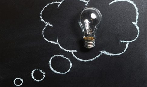 アイデア、ひらめき、電球
