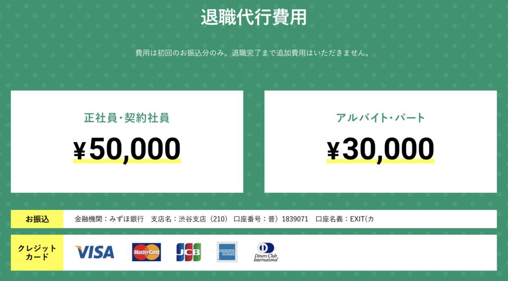 退職代行費用は正社員、契約社員は5万円。アルバイト、パートの方は3万円。追加費用は無しです。