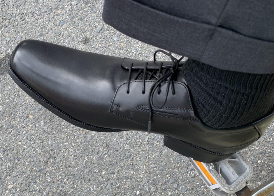 テクシーリュクスの革靴を履いたダリーの画像