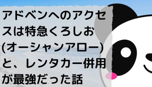 【大阪から白浜アドベンチャーワールドへおすすめの行き方、アクセス方法】特急くろしお&レンタカーが割と神だった件。