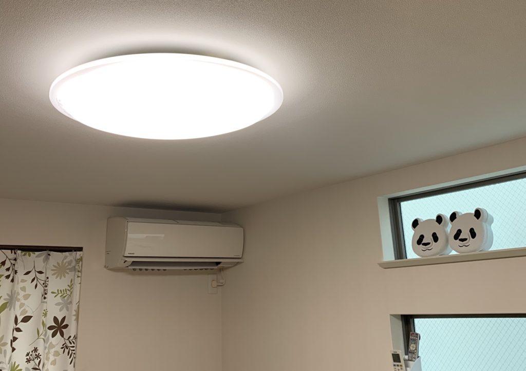 シーリングライトの明かりはダサいことを説明している画像