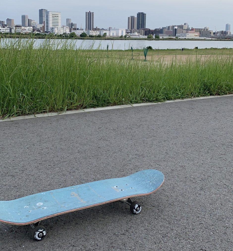 38歳でスケボー始めたダリーウメモのスケートボードの図