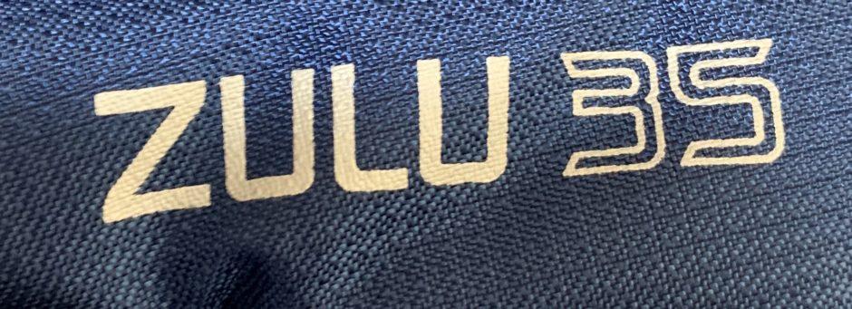 GregoryのZULU35のネームのアップ画像