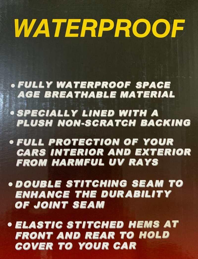 カバーライトの特徴5つ。完全防水&紫外線もシャットアウト。車と接する面は起毛素材で安心。