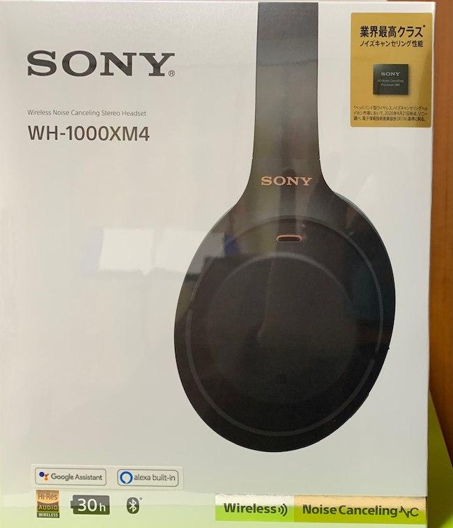 ソニーのWH-1000XM4の箱正面