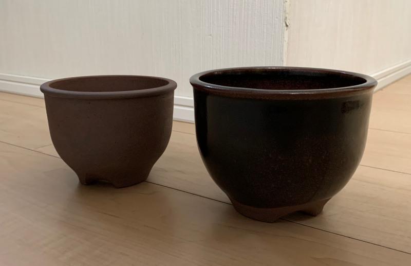 市野伝市窯の植木鉢